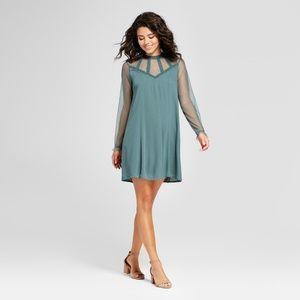 NWT Xhilaration Lace Yoke Shift Dress // Large